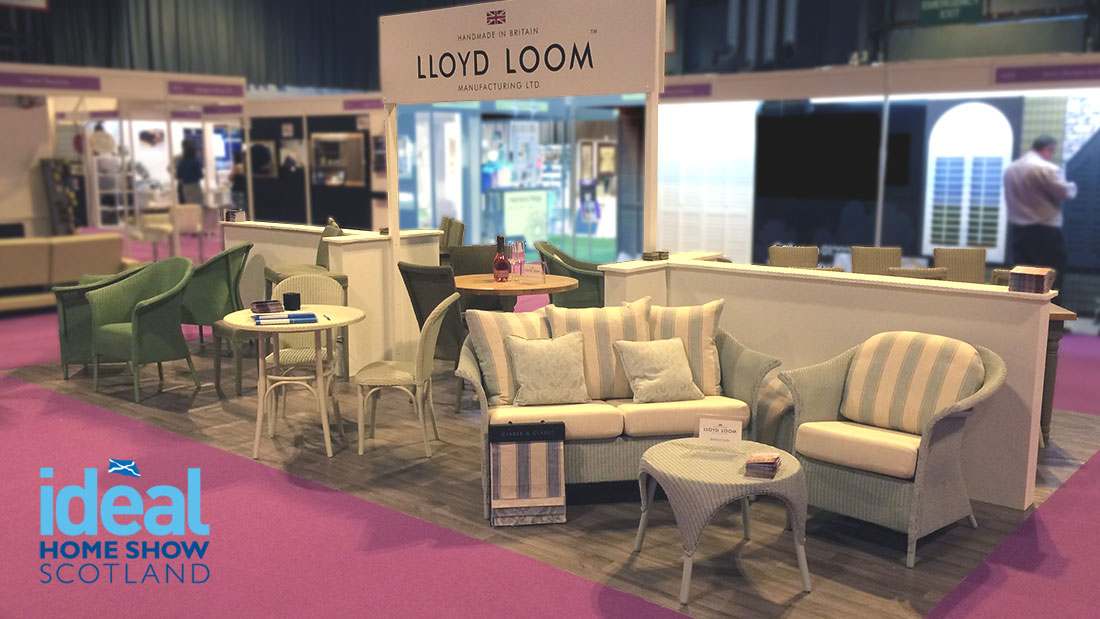 Lloyd Loom at the ideal home show scotland