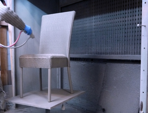 Lloyd Loom chair painting