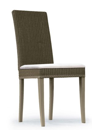 Lloyd Loom Abbot Dining Chair with upholstered fabric seat TC002F