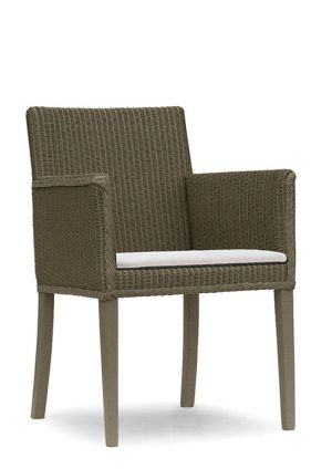 Lloyd Loom Abbot Carver Dining Chair with upholstered fabric seat TC003F