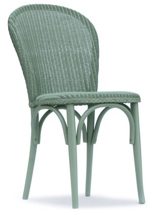 Lloyd Loom Bistro Chair with padded weave seat TC050