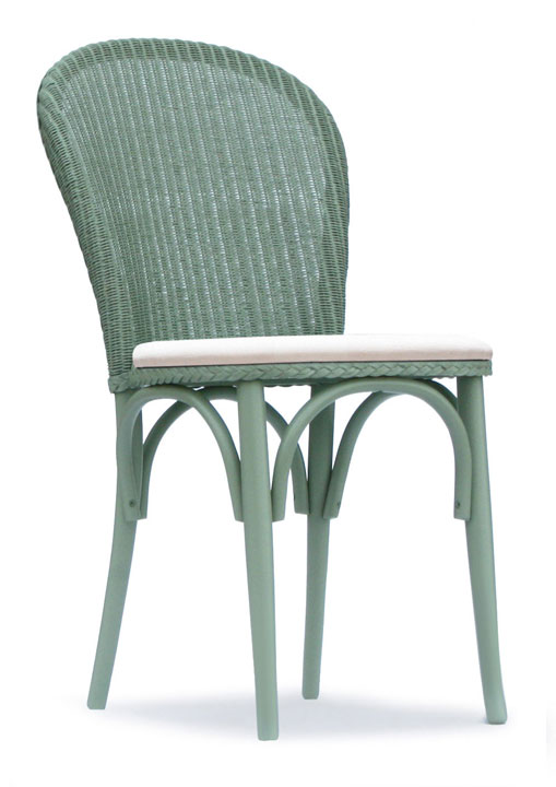 Lloyd Loom Bistro Chair with upholstered fabric seat TC050F