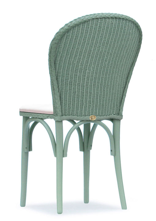 Lloyd Loom Bistro Chair with upholstered fabric seat and double weave back TC051F