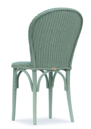 Lloyd Loom Bistro Chair with padded weave seat and double weave back TC051