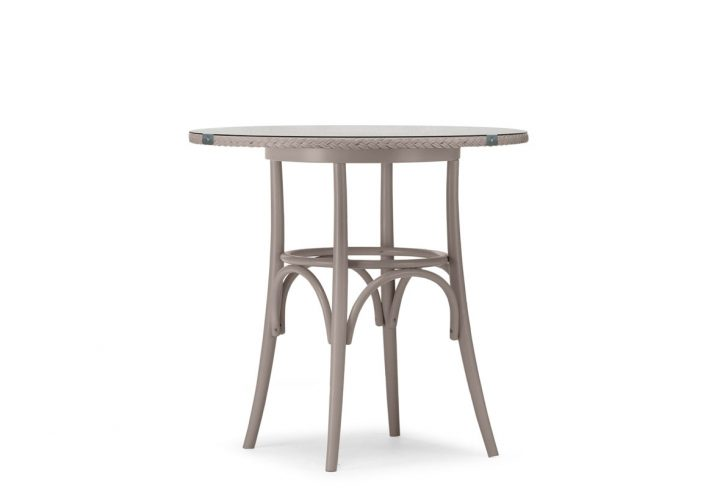 Lloyd Loom Bistro Round Table with Weave & Glass Top TT010G