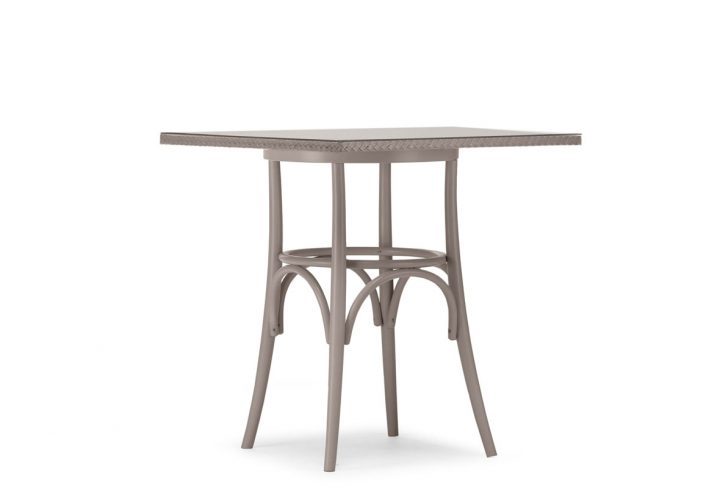 Lloyd Loom Bistro Square Table Weave & Glass Top TT011G