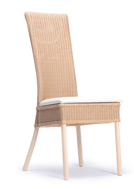Lloyd Loom Cranford Dining Chair with upholstered fabric seat TC030F