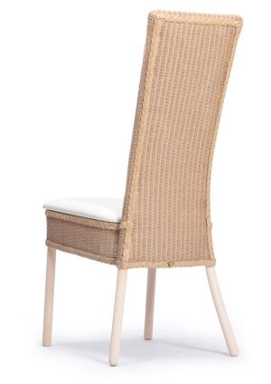 Lloyd Loom Cranford Dining Chair with upholstered fabric seat and double weave back TC031F