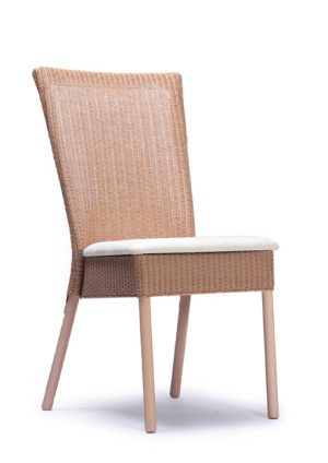 Lloyd Loom Ellwood Dining Chair with upholstered fabric seat TC040F