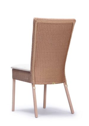 Lloyd Loom Ellwood Dining Chair with upholstered fabric seat and double weave back TC041F