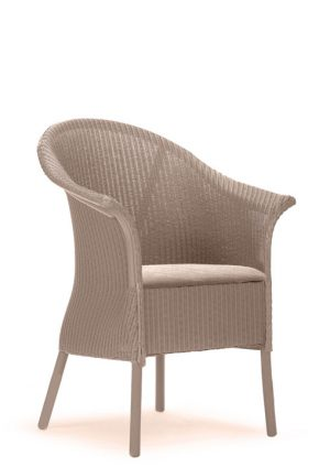 Lloyd Loom Fairbank Wide Armchair with upholstered fabric seat TA001F