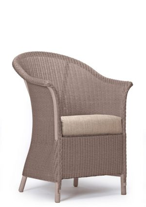 Lloyd Loom Fairbank Slim Armchair with upholstered drop-in cushion TA002D