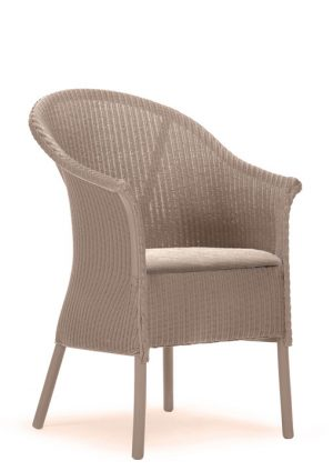 Lloyd Loom Fairbank Slim Armchair with upholstered fabric seat TA002F