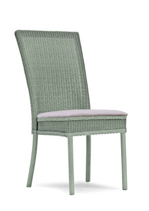 Lloyd Loom Hadfield Dining Chair with upholstered fabric seat TC010F