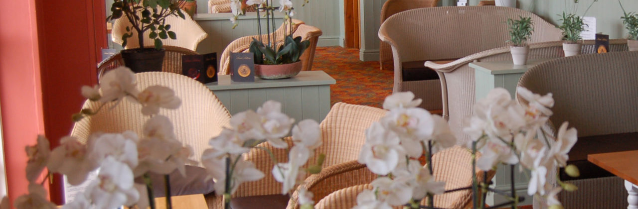 Lloyd Loom hotel lounge chairs